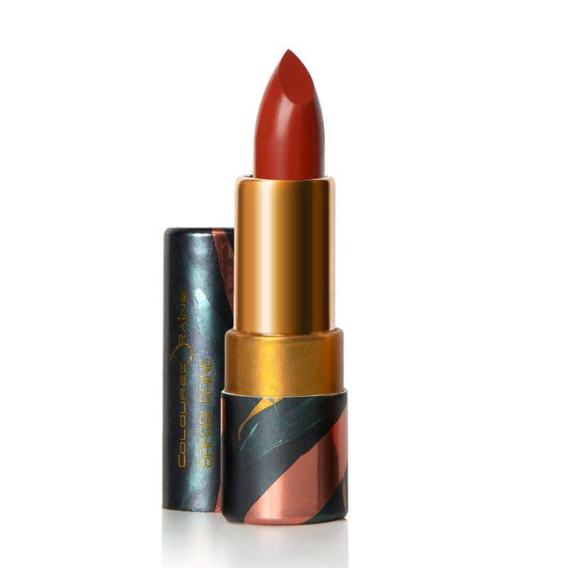 Queendom is a burnt orange lipstick and sure to demand attention - Safari Raine by Coloured Raine Cosmetics