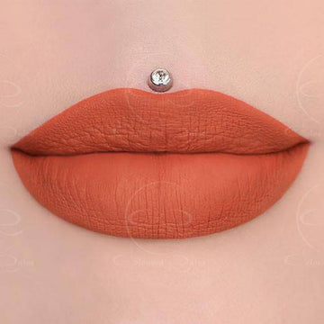 Sweet Cake peach liquid lipstick by Coloured Raine Cosmetics