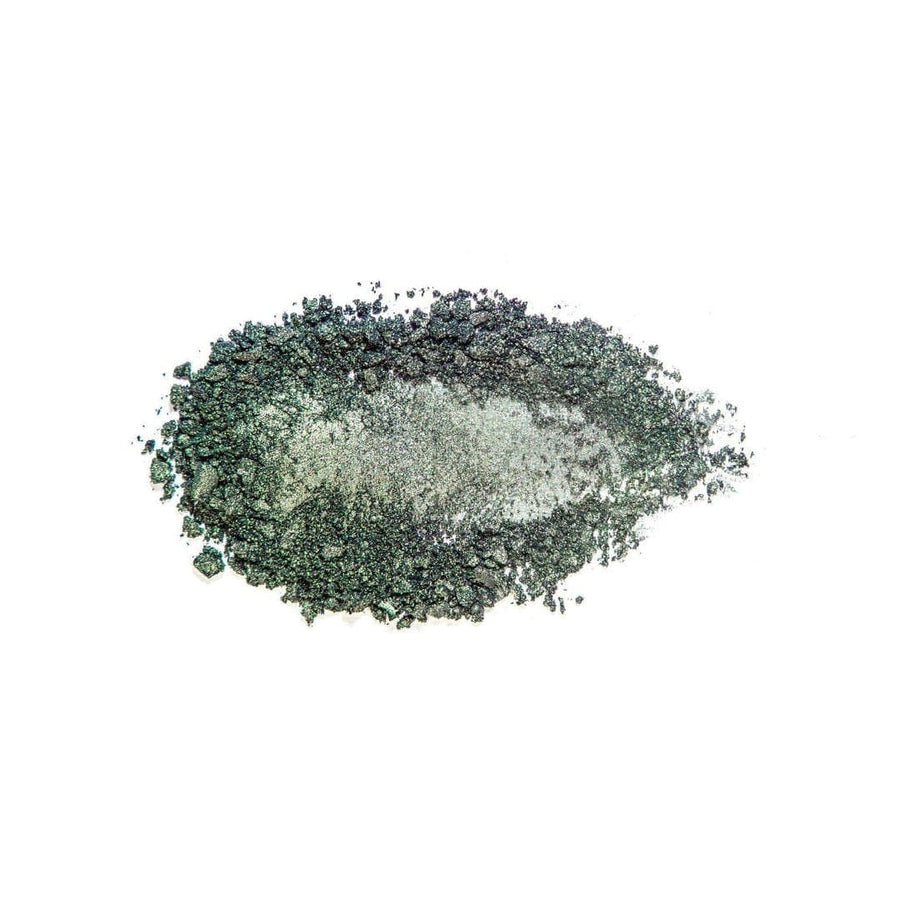 Unexpected rich forest green eyeshadow powdered
