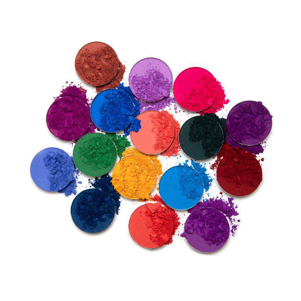 Vivid Pigments and Shadows Palette - all shades powdered