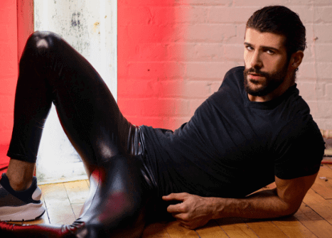 Men's Style Guide: 10 Ways To Rock Wet-Look Black Leggings