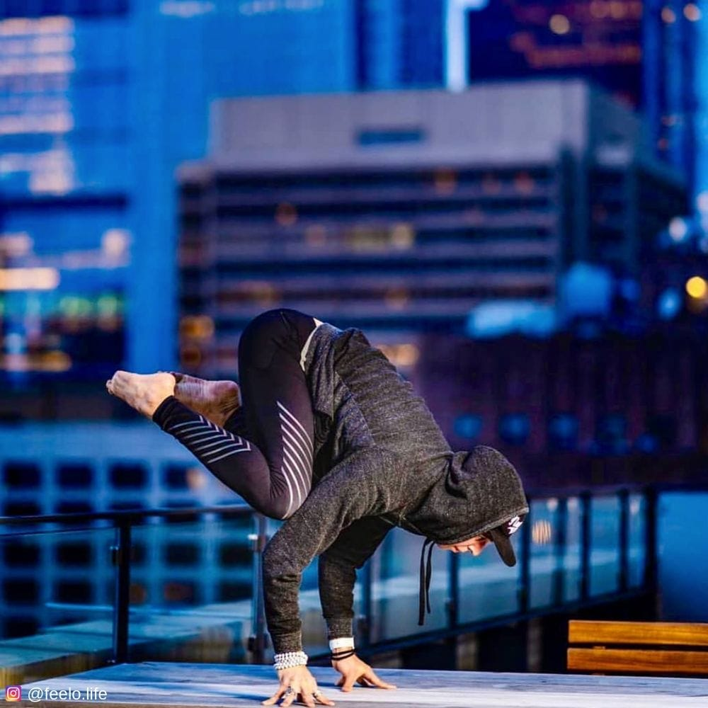 Parkour in sonic boom reflective mens leggings