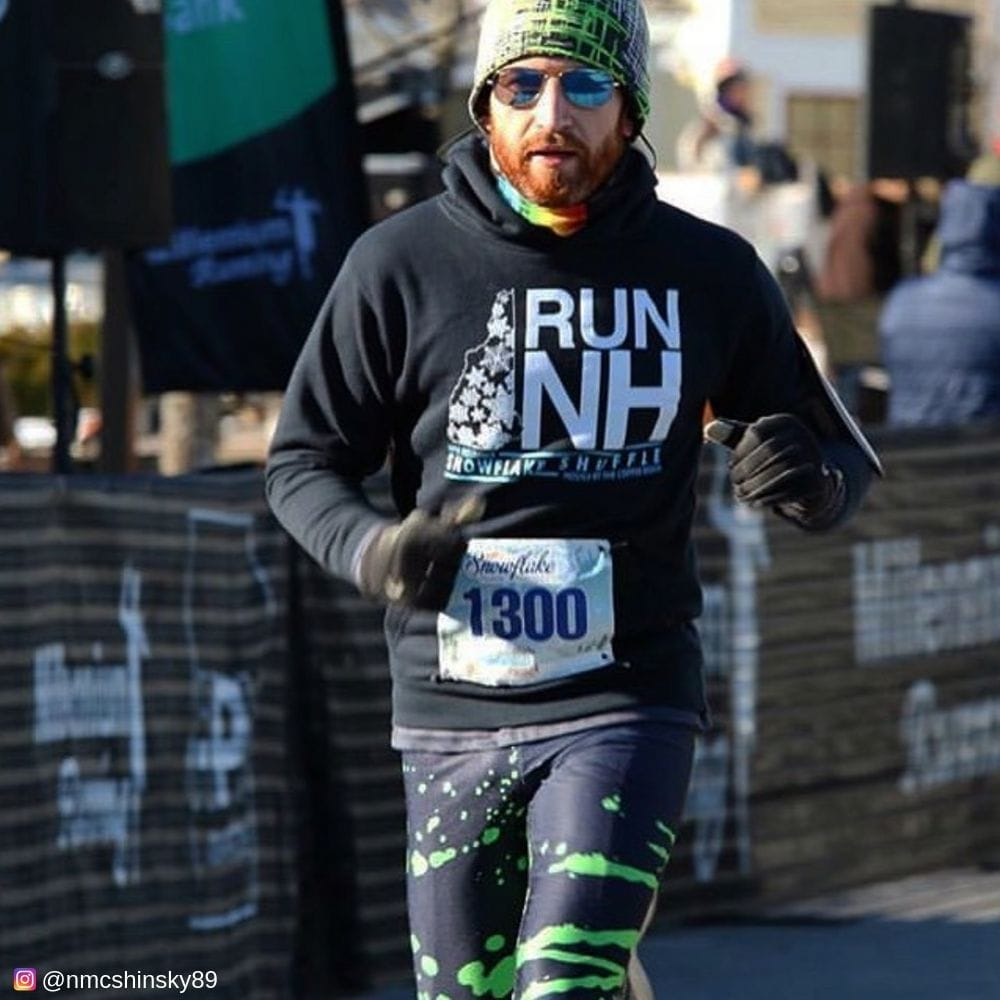 Running a Marathon in Acid Jazz mens tights