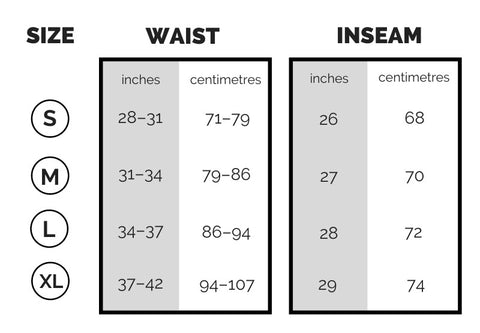 Originals Sizing Chart – clean