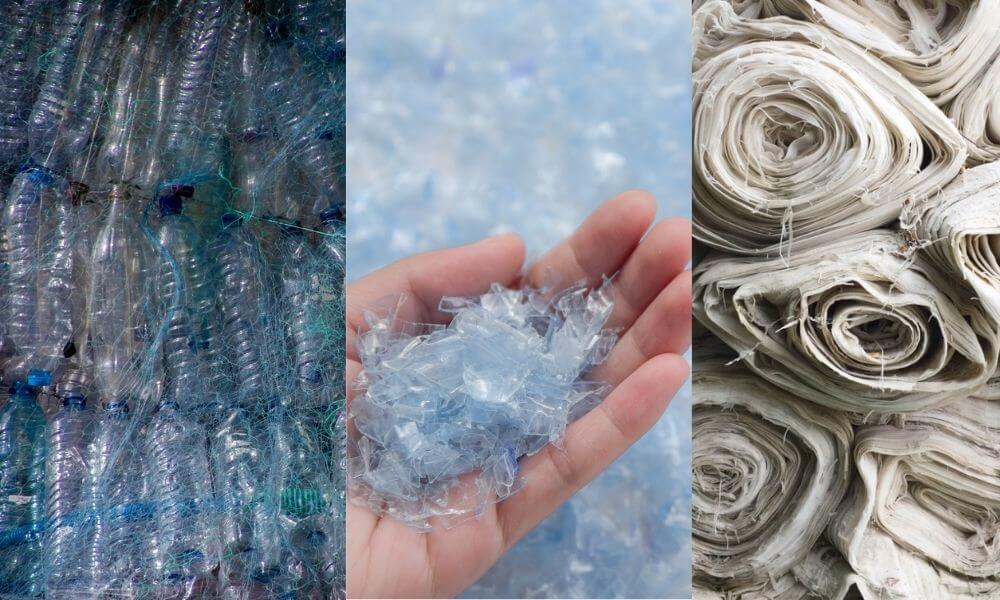 Recycled polyester made from post-consumer plastic like PET bottles