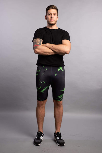 Acid Jazz High Waisted Compression Shorts