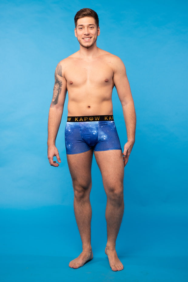Blue Galaxy Underwear Boxers