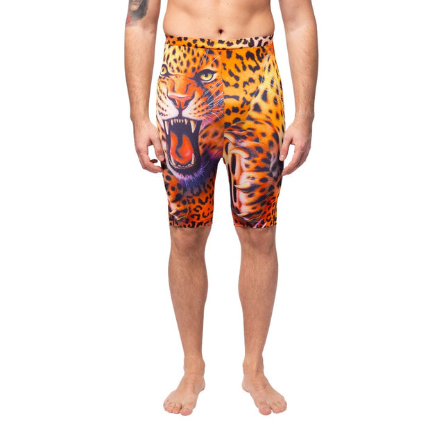 Tiger Print Compression Shorts