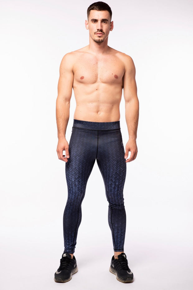 Black Print Compression Leggings