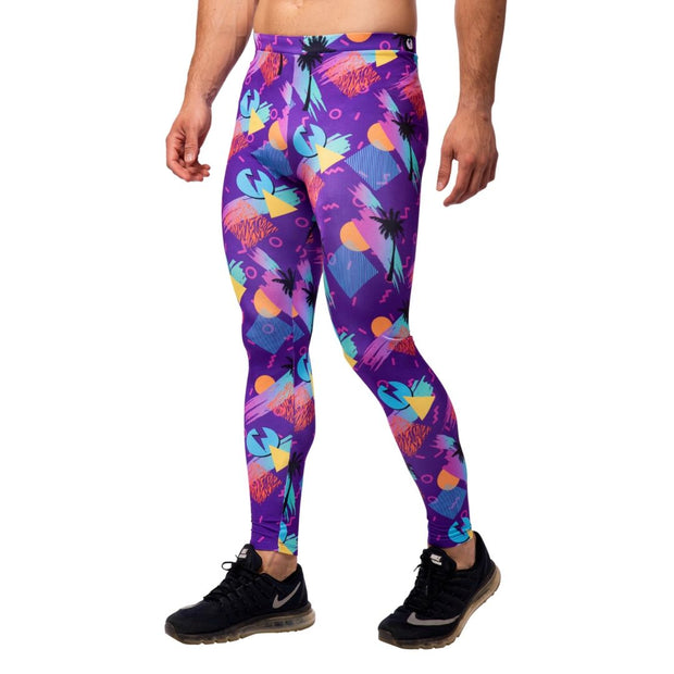 Purple Tropical Men's Leggings