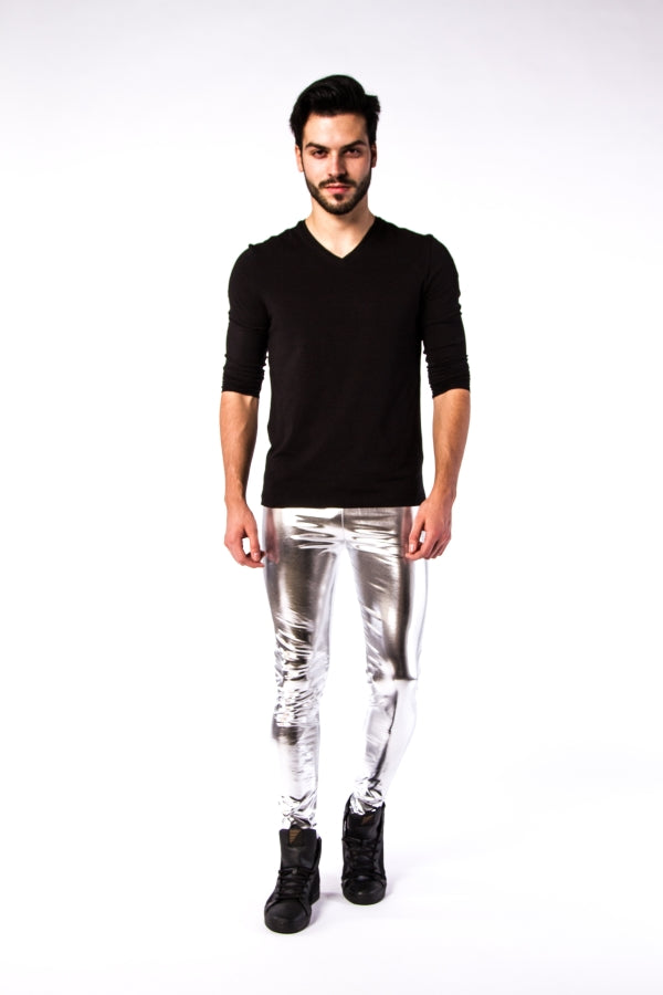 Silver Bullet meggings - Metallic