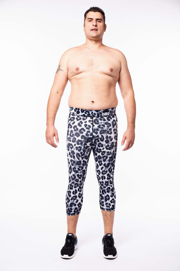 Snow Leopard 3/4 Meggings