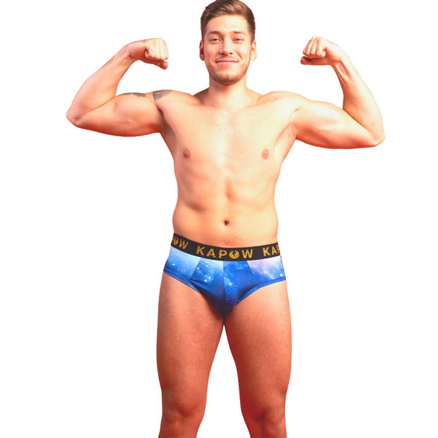 3 PACK Blue Galaxy Underwear Briefs