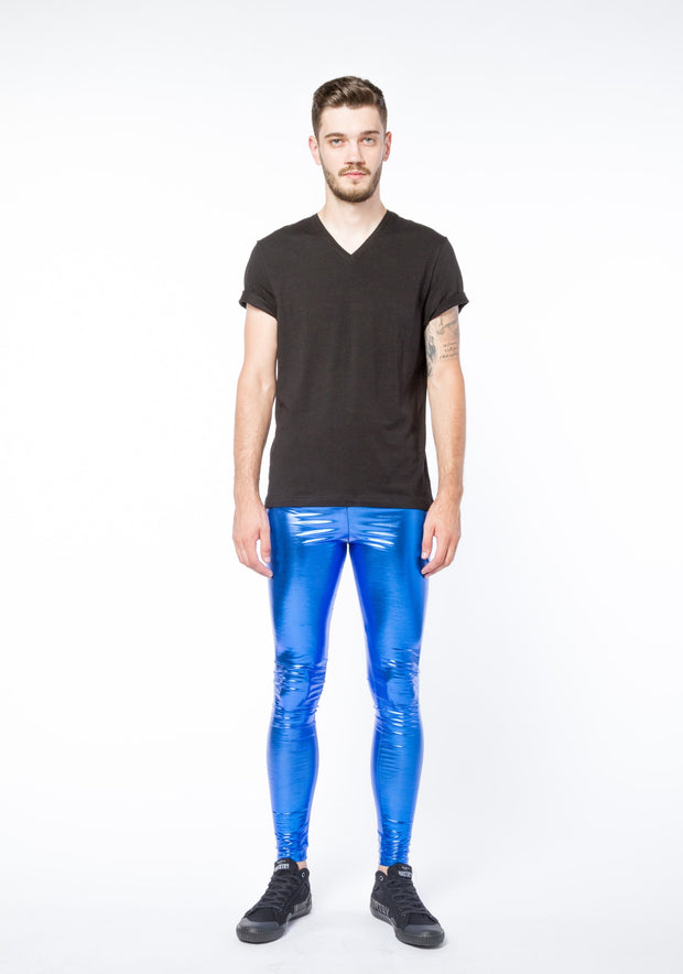 Cobalt Shock Meggings - Metallic