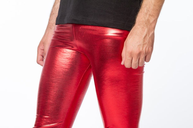 red peril meggings close up view