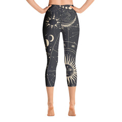 Moon Chart Yoga Capri Leggings