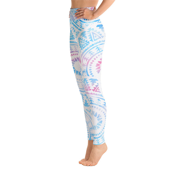 Watercolor Mandala Yoga Leggings