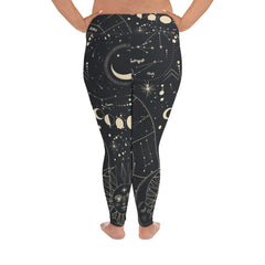 Moon Chart Plus Size Leggings