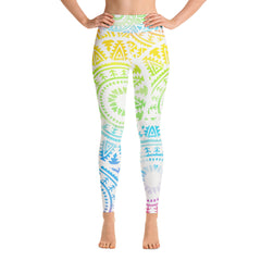 Rainbow Mandala Yoga Leggings
