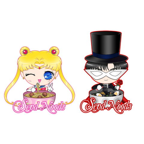 SAILOR MOON TUXEDO MASK SEND NOODS STICKERS - Teem Meme