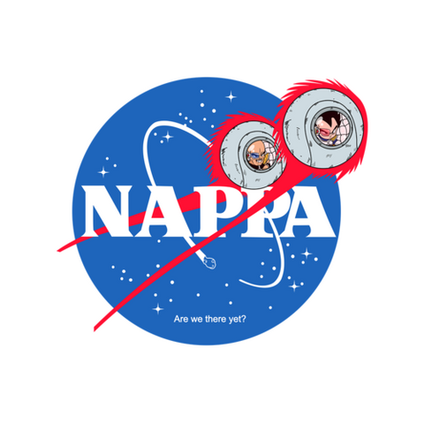NAPPA NASA Large Die Cut Sticker - Teem Meme