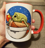 Baby Yoda None of My Business Accent Mug - Teem Meme