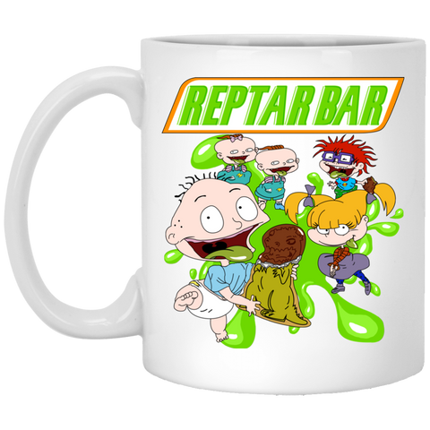 Reptar Bar 11 oz. White Mug - Teem Meme