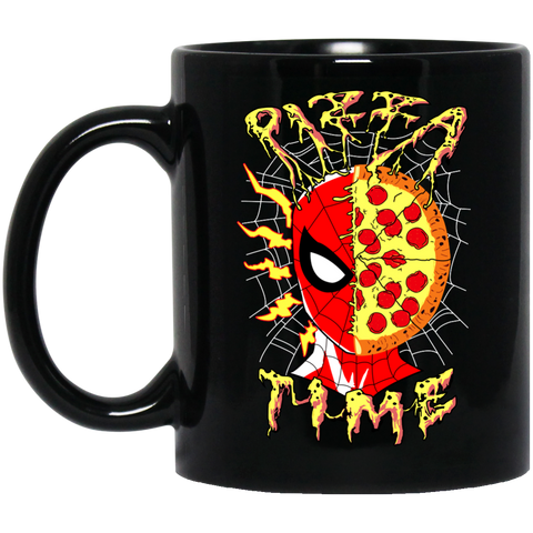 Pizza Time! 11 oz. Black Mug - Teem Meme