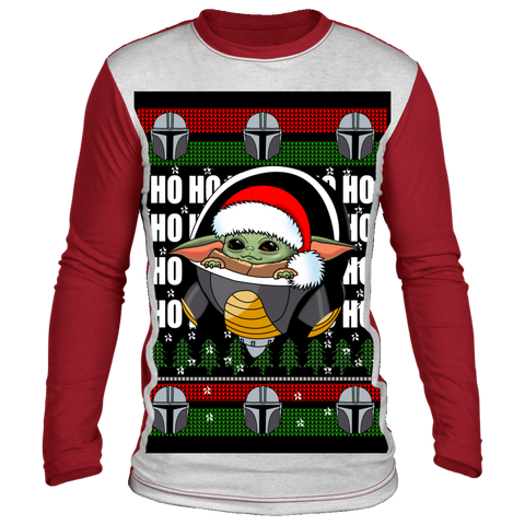 Baby Yoda Frieza Ugly Christmas Long Sleeve - Teem Meme