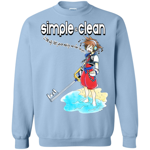 Simple and Clean Crewneck Sweatshirt - Teem Meme