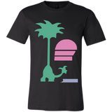 Sax On a Beach Unisex Bella T-Shirt - Teem Meme