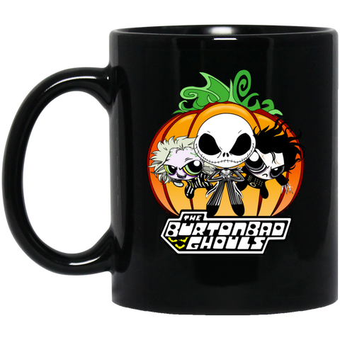 The BurtonBad Ghouls Black or White Mug 11 oz - Teem Meme