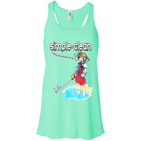Simple and Clean Bella Flowy Racerback Tank - Teem Meme
