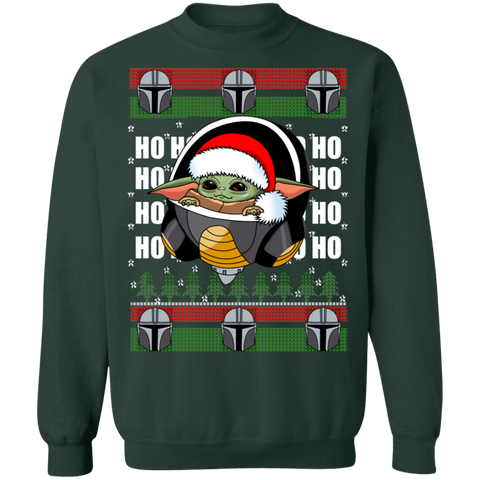 Baby Yoda Frieza  Ugly Christmas Pullover Sweater - Teem Meme