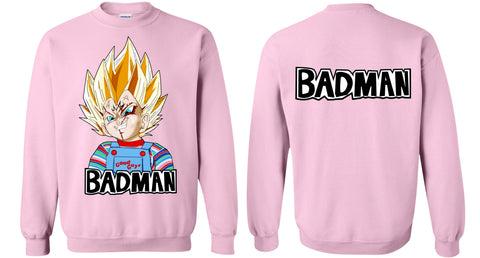Vegeta Badman Sweater WITH Badman Back Print - Teem Meme