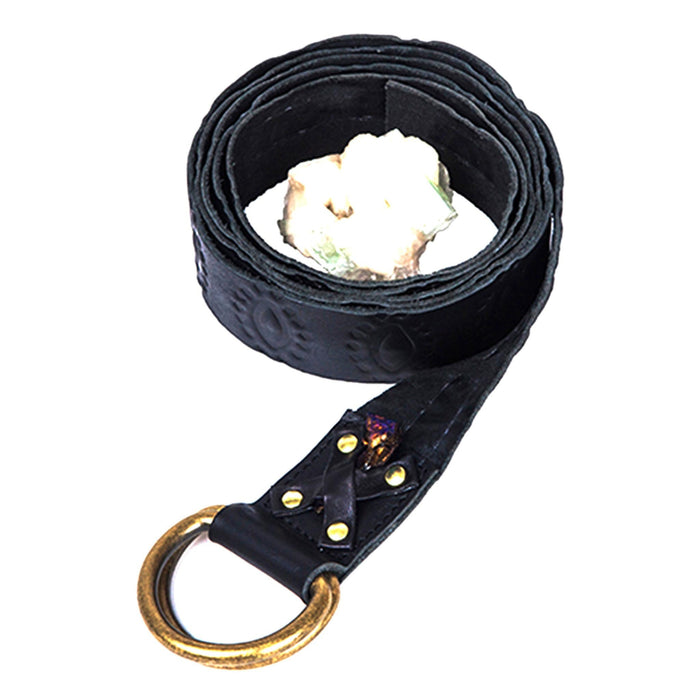 Black Leather Strap With Eye Design