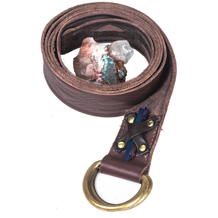 Brown Leather Strap With Line Design