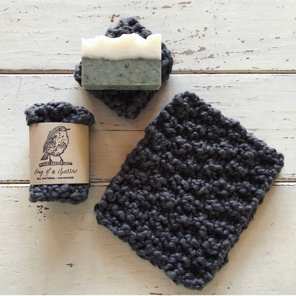All Cotton Washcloths - gray