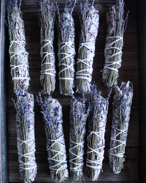White Sage + Lavender Smudge Stick