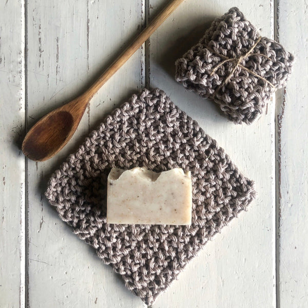 Handmade Washcloth - sand
