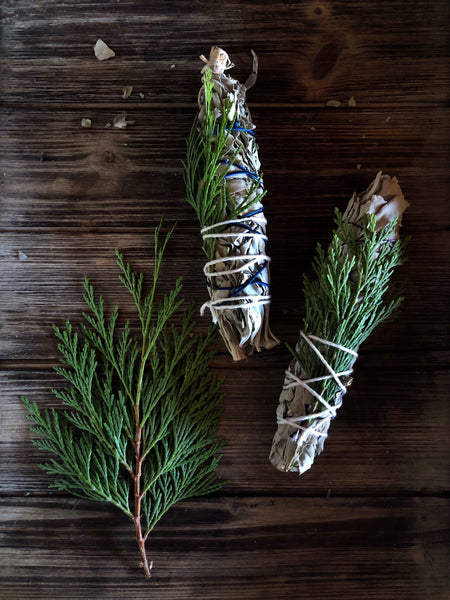 White Sage + Cedar Smudge Stick