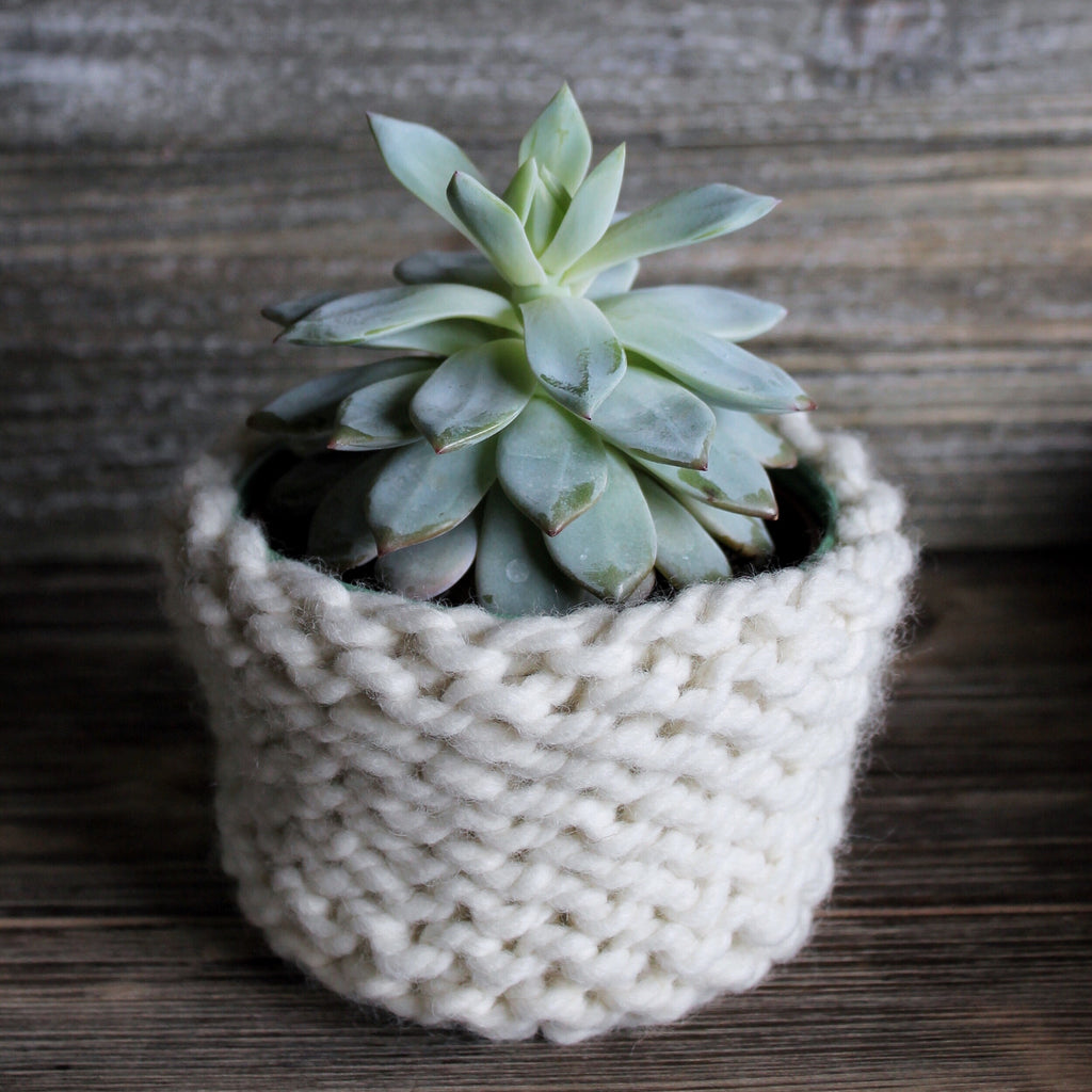 Knitted Plant Cover