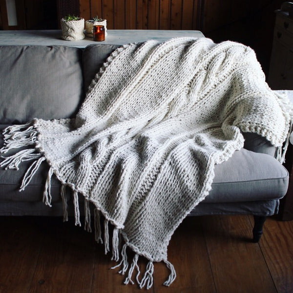 Hand-Knit Blanket - FREE SHIPPING!