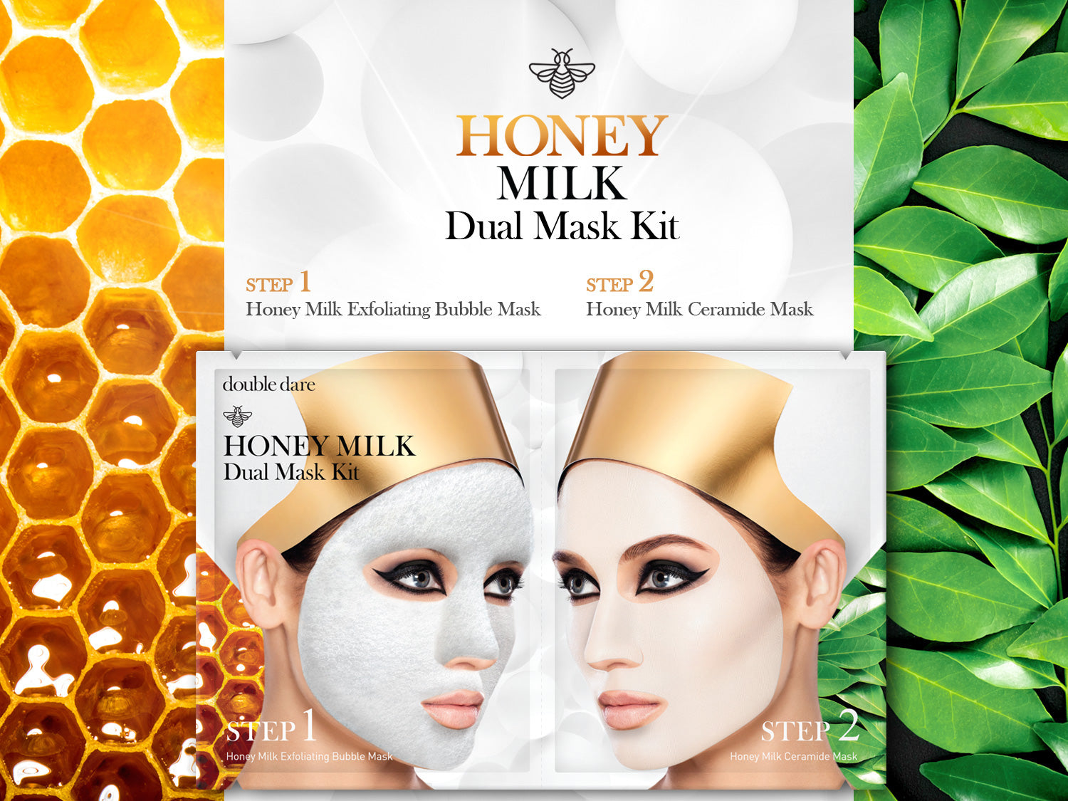 honey milk dual mask kit main ad