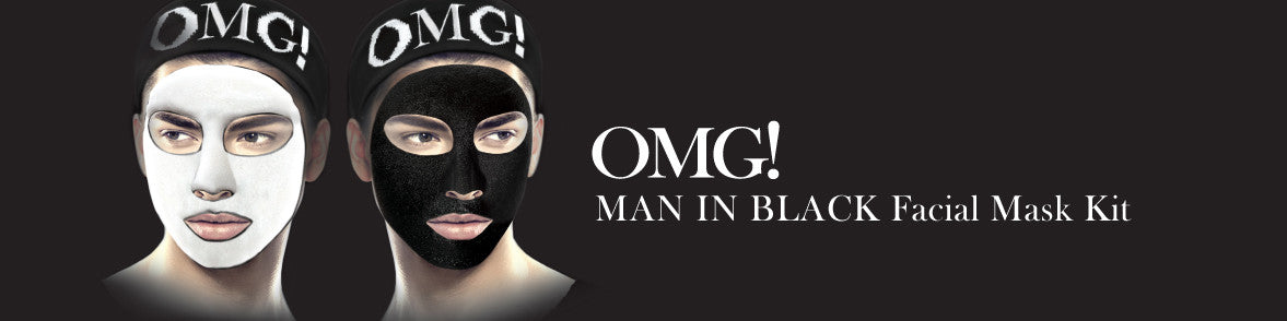 OMG! MAN IN BLACK FACIAL MASK KIT banner