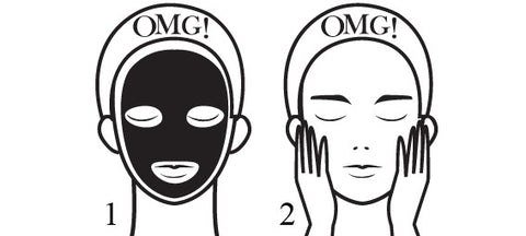 OMG! MAN IN BLACK FACIAL MASK KIT skin mask how to use