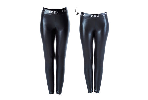 OMG! PLATINUM BLACK LEGGINGS short