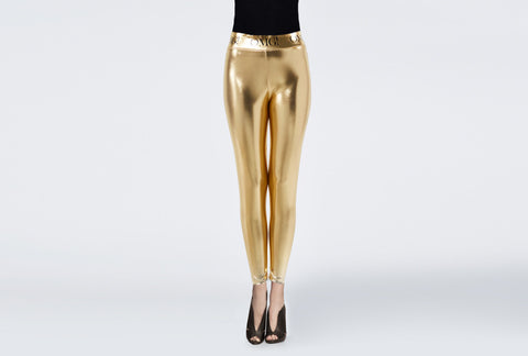 OMG! PLATINUM GOLD LEGGINGS front