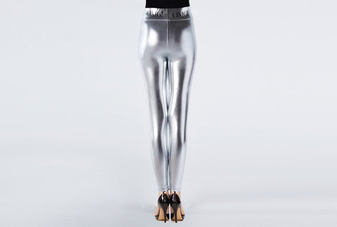 OMG! PLATINUM SILVER LEGGINGS-back