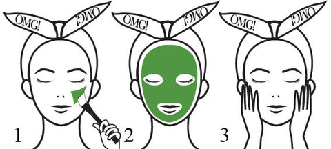 OMG! PLATINUM GREEN FACIAL MASK KIT FORMULA HOW TO USE